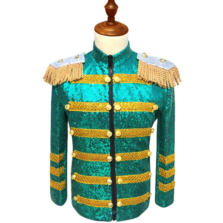 <font><b>Green</b></font> <font><b>sequin</b></font> suits designs homme terno stage costumes for singers <font><b>mens</b></font> blazer dance clothes <font><b>jacket</b></font> star style dress punk fashion image