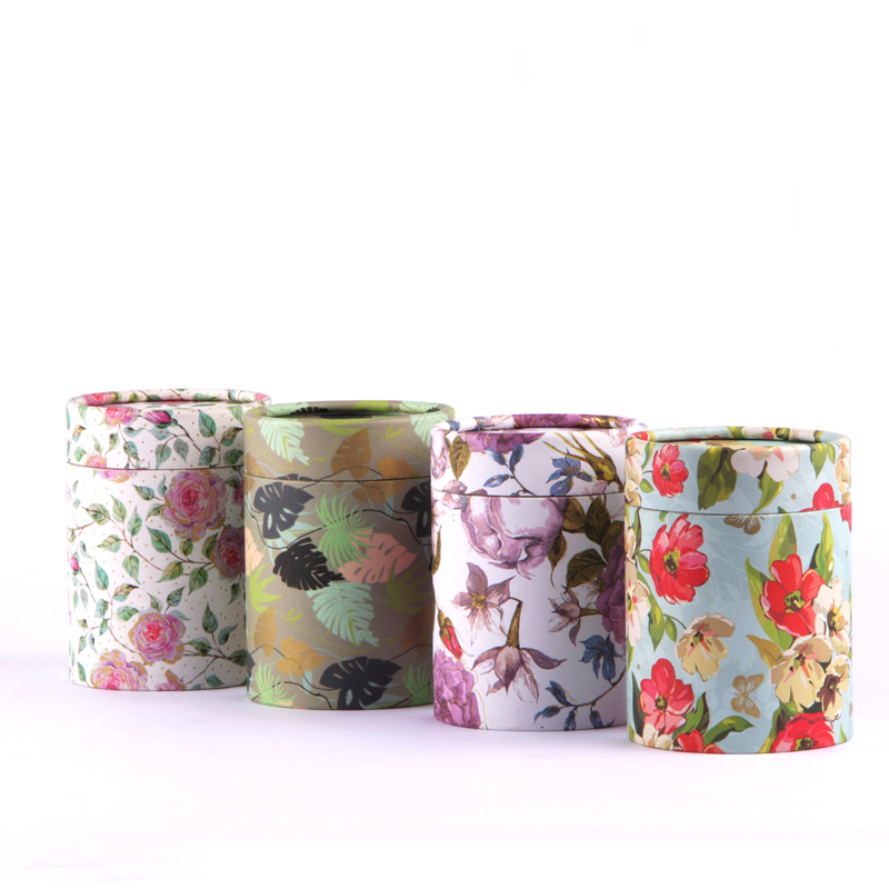 Xin Jia Yi Packaging Box Art Flower Paper Cylinder Shape Coffee Powder Caddy Necktie Cheaper Price Chinese Factory Boxes