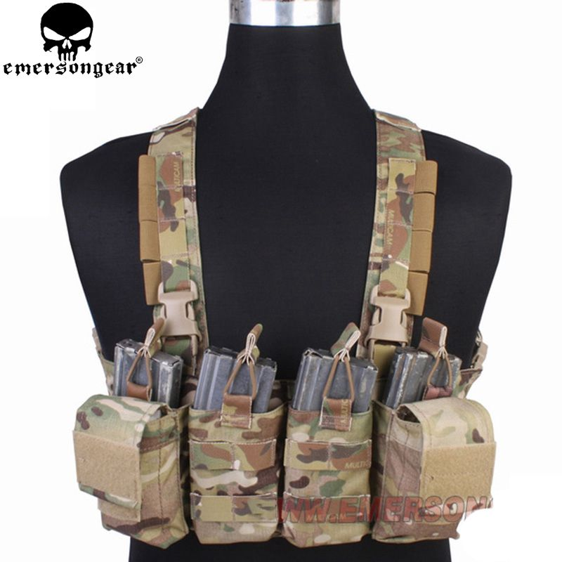 Emersongear Hunting Pouches Vest Chest Rig Multicam Vest Airsoft Painball Military Army Combat Gear EM7450 MC/AOR1/AOR2/ military tactical vest spanker mp7 chest rig airsoft painball military combat vest multicam airsoft plate carrier ammo