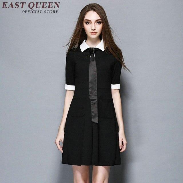 abito nero colletto bianco