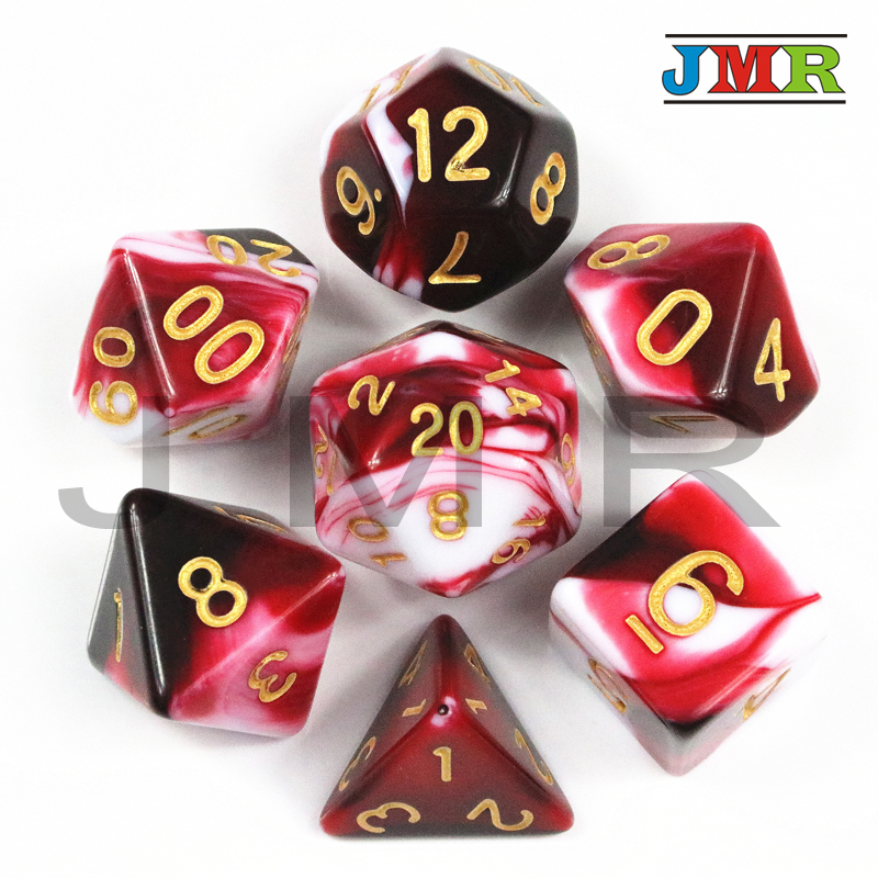 High Quality Set Of D4 D6 D8 D10 D10% D12 D20 Polyhedron Game Plastic Dice For DND Board Game,Game Playing