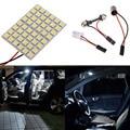 1 conjunto 48SMD LED Reading Dome Painel de Luz T10 Ba9s Festoon Car Interior Branco 5050