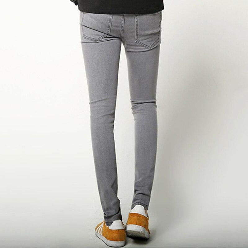 nuevo estilo 93e16 99a71 Pantalones vaqueros ajustados grises para hombre nuevo 2019 ...