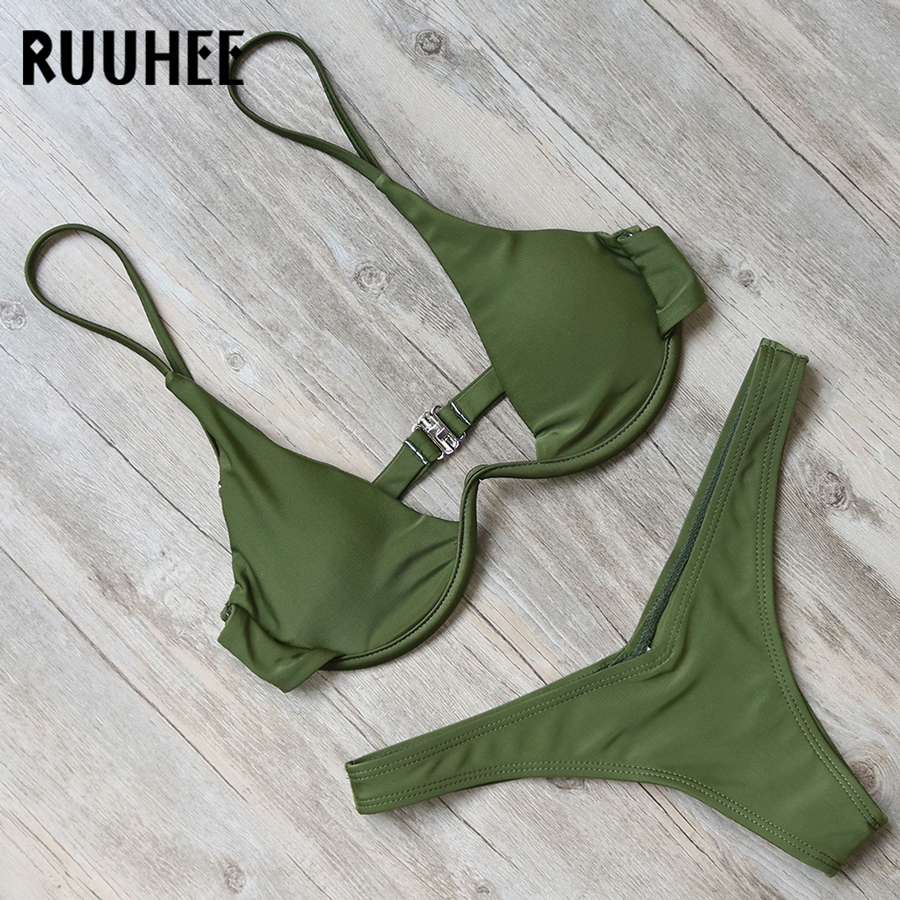 RUUHEE Bikini Swimwear Swimsuit Women Bathing Suit Sexy Brazilian Bikini Set 2018 Underwire Female Beachwear With Pad Biquini оправка поршневых колец 3 53 125 мм jonnesway ai020034b