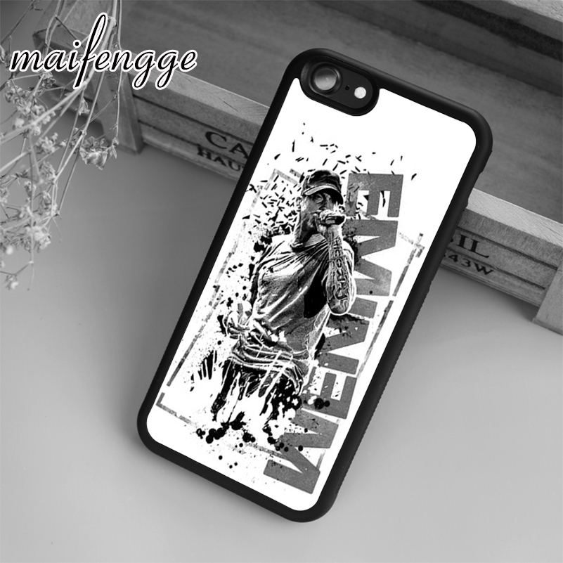 Maifengge Custom Eminem Pattern Case For IPhone 6 6S 7 8 ...