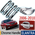 For Hyundai Elantra 2007-2010 Chrome Door Handle Cover Trim Ser of 4Door Avante (HD) Accessories  Stickers Car-Styling 2008 2009