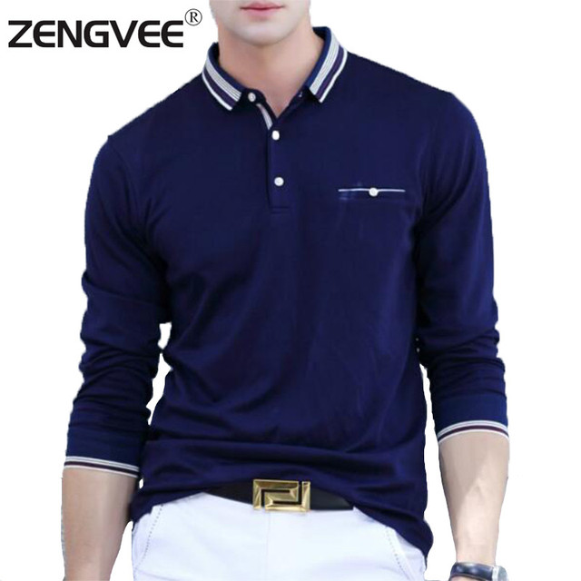 0933939647f2 Mens Polo Shirt Brand New Men Polo Shirt Mens Fashion Collar Shirts Long  Sleeve Casual Polos