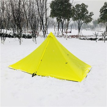 Single Person Ultralight Camping Tent Separated Dual Layer Outdoor Mesh Tent One Room One Hall 4 Season Tent for Beach Travel