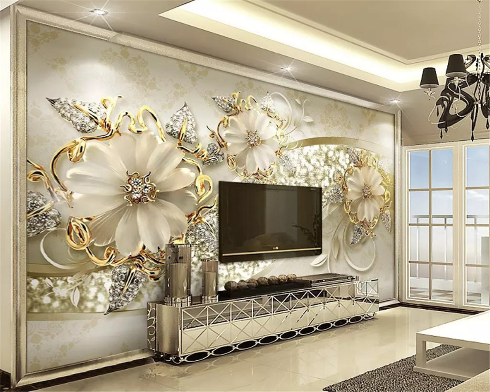 Beibehang Interior Classic Wall Paper Luxury Gold 3d