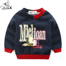 Baby boys new winter warm padded sweatshirts Children casual printed sweaters kids fashion pullover hoodies WY25056 Christmas