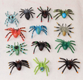 Simulation crawling insect model trumpet black spider black widow soft cognition teaching aids Tricky Decoration