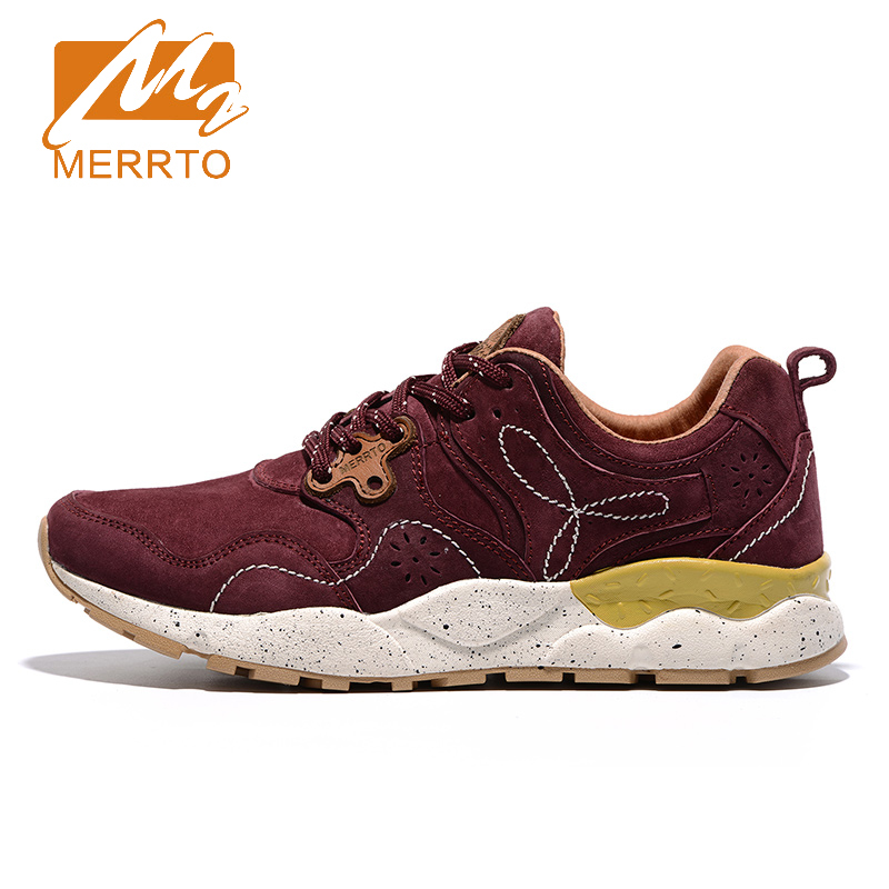 2017 Merrto Womens Walking Shoes Breathable Non-slip Outdoor Sports Shoes Color Purple Grey Red For Women Free Shipping MT18622