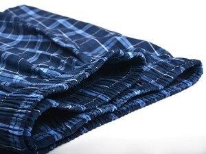 Image 2 - תחתוני גברים מתאגרף משובץ תחתוני כותנה מכנסיים גברים פסים תחתונים רופף באיכות גבוהה רוסית גודל לנשימה Dropshipping