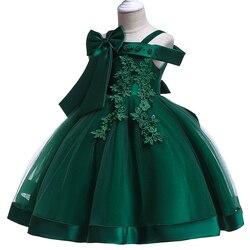 Meninas de flor vestidos para casamentos crianças pageant vestido de baile vestido de festa da princesa vestidos de primera comunion 2019 vestido da noiva