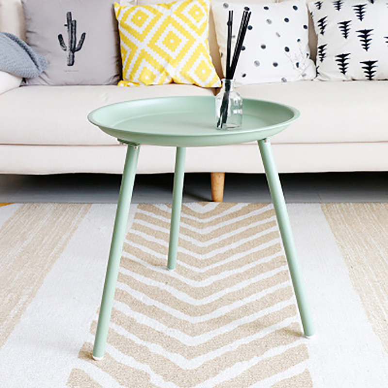 Creative small round colorful table contracte low table living room sofa side Nordic wrought iron coffee table wholesale 45*50cm end table