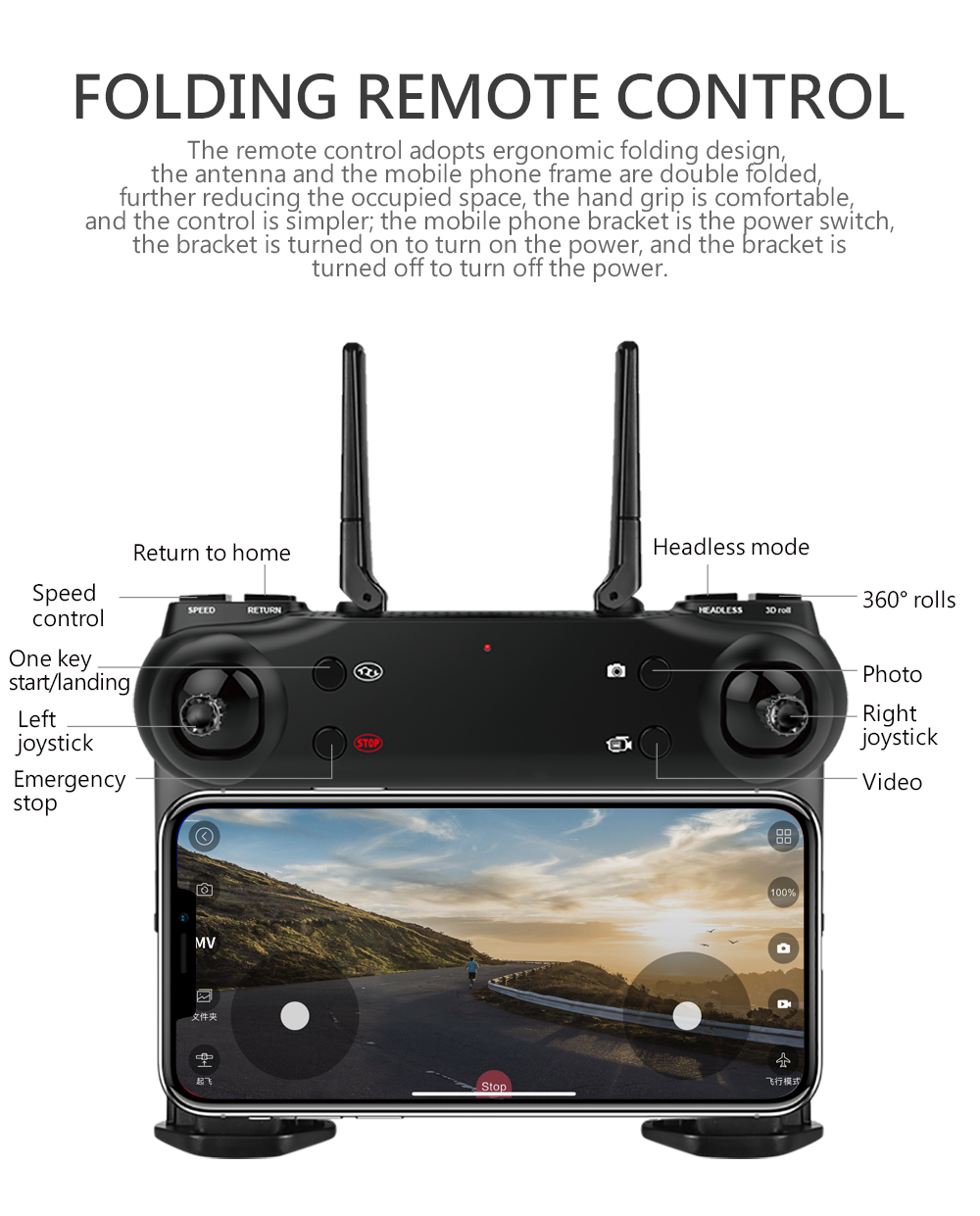 SG106 4K 1080P/720P Drone with Dual Camera and Wide Angle Optical Flow for Real-Time Aerial Video 5