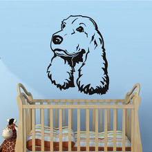 New Cocker Spaniel Dog Wall Sticker Cartoon animal Stickers Removable Vinyl Nursery Kids Room Decals Home Decoration