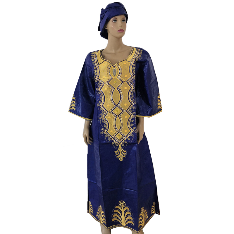 MD african dresses for women 2019 new africa dashiki plus size dress south ladys clothes with head wraps