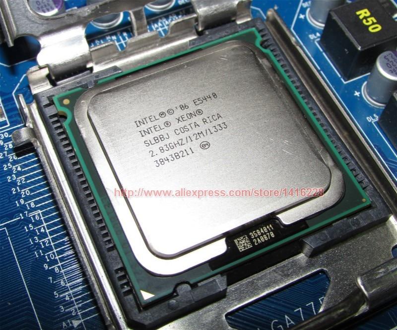Xeon E5440 Processor 2.83GHz 12M 1333MHz SLANS SLBBJ close to LGA775 Core 2 Quad Q9550 cpu Works on LGA 775 motherboard
