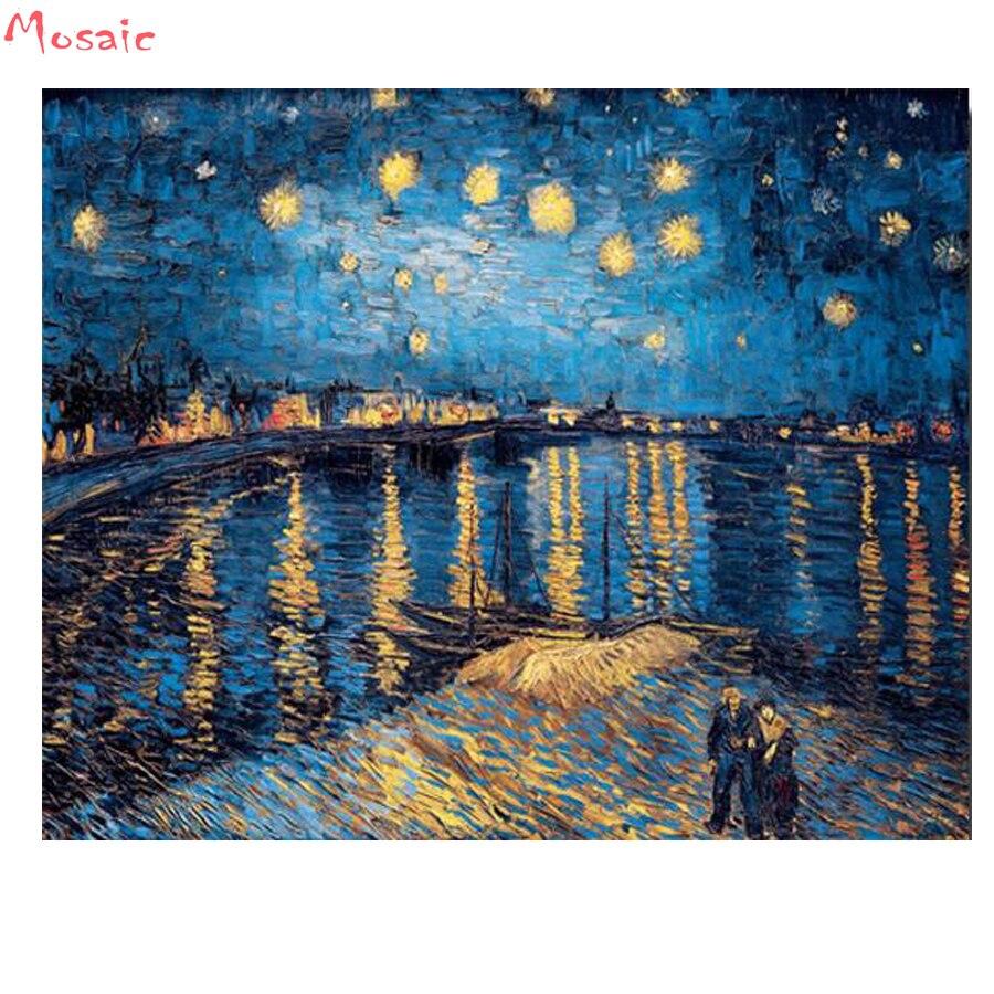 OUYIJIA 5D DIY Van Gogh Irises Vincent Home Decoration Diamond ... 1889850c3671