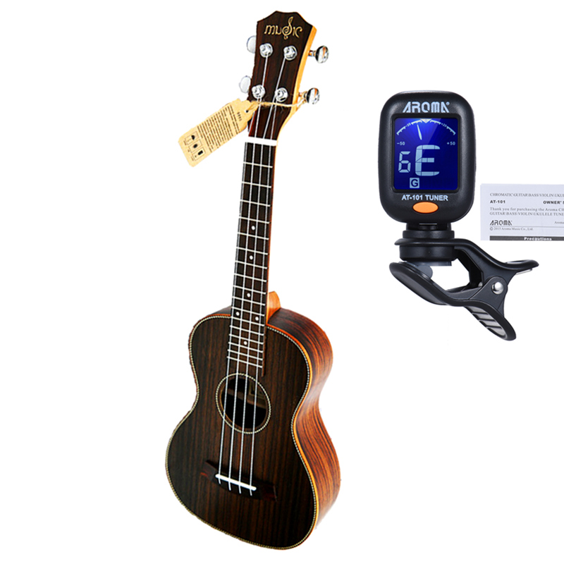 23 inch Ukulele Concert Whole Rosewood Hawaiian 4 Strings Small Guitar Electric Ukelele with Pickup EQ Music strings Instruments afanti music 23 inch small guitar zebrawood 23 inch ukulele dga 126