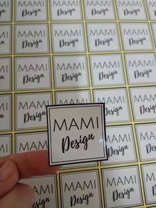 Image 5 - 30 MM okrągły/kwadratowy niestandardowy projekt połysk/matowy laminowane w pełnym kolorze normalny papier przylepna etykieta drukowania 500 sztuk/partia