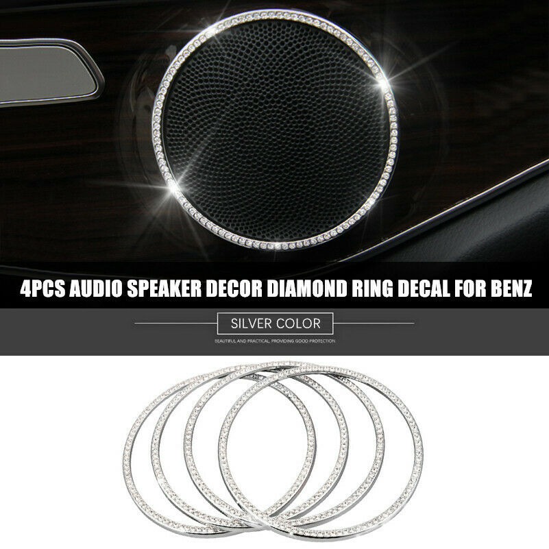 Silver Diamond Door Stereo Speaker Ring Trim For Land Rover Discovery Sport 15+