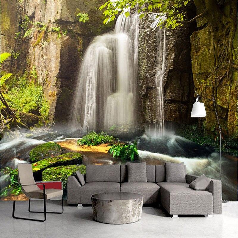 3d Behang Klassieke Watervallen Natuur Landschap Foto Muurschilderingen Woonkamer Tv Sofa Achtergrond Muur Doek Papel De Parede 3 D