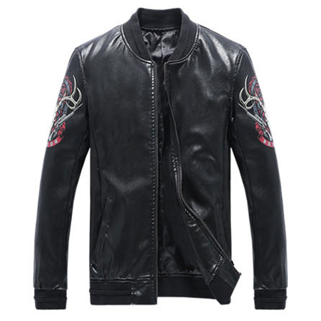 New Hip Hop Style Mens Autos Biker Leather Jacket and Coats Plus Size 5XL European and American Style Bomber Jacket Mens S2478