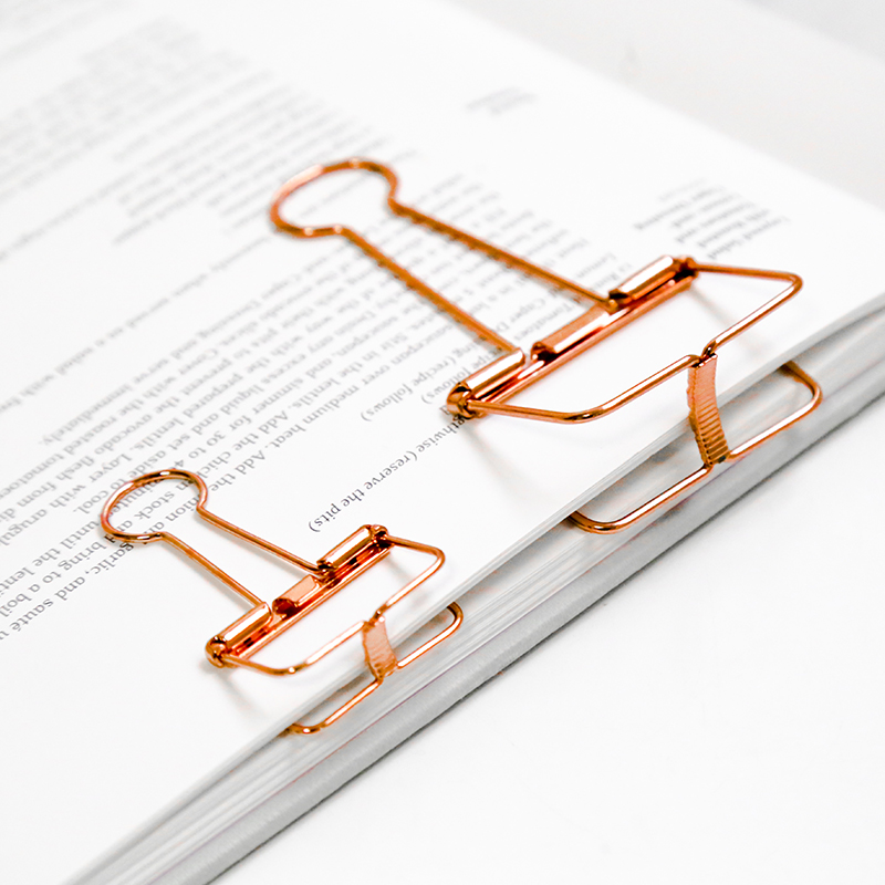 1pc Metal Long Tail Clips  Color Gold Paper Clips Kawaii Binder Clips Multifunctional Metal Bookmark