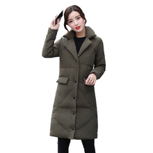 2019 New Cotton Womens Parker Long Section Thick Jacket Korean Version Hooded Winter Fashion Parkers Female Leisure Tide