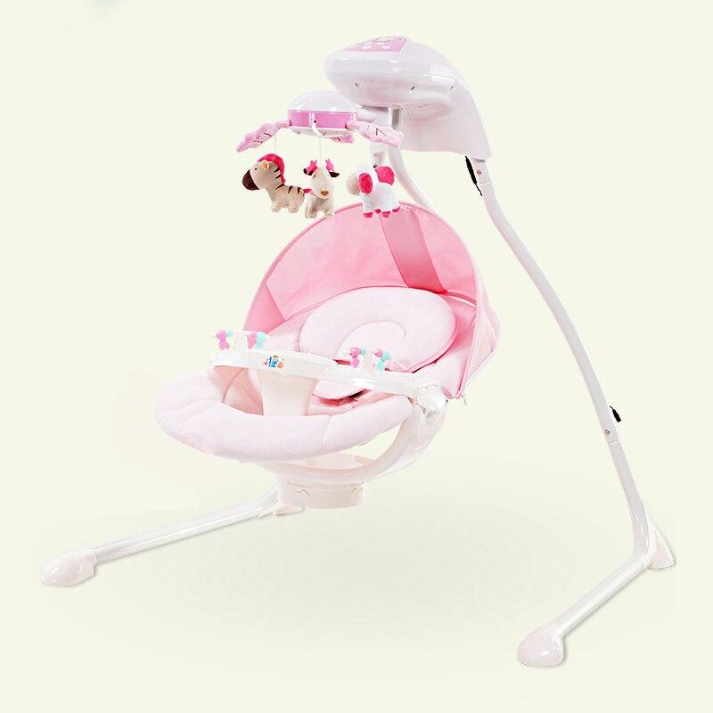 Bébé berceau électrique chaise berçante lit balançoire nouveau-né bébé intelligent balançoire sommeil gauche et droite balançoire chaise - 4