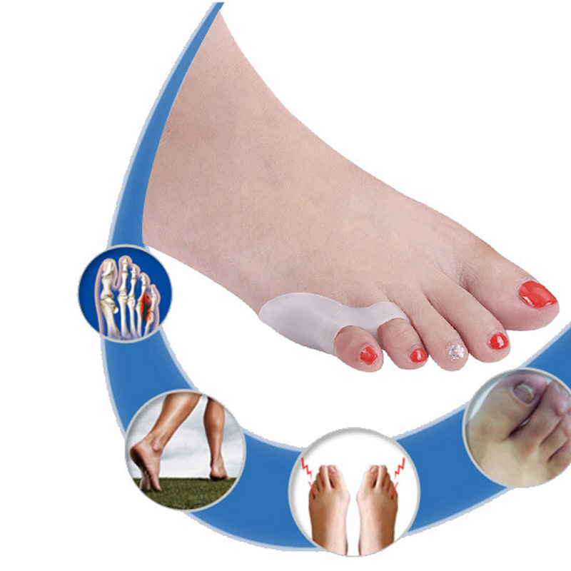 4Pcs=2Pairs Feet Care Toe Separator Little Finger Ortopedia Protector Bunion Corrector Adjuster Hallux Valgus Foot Care Pedicure