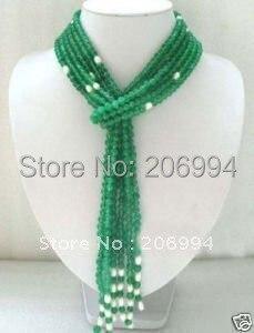 Новое поступление дизайн Очаровательное белое пресноводное жемчужное ожерелье Самая низкая мода ювелирные изделия, подарок#2