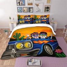 Skull lover car Bedding Set 3d Duvet Cover Bedclothes Twin queen king size 3pcs Home Textiles