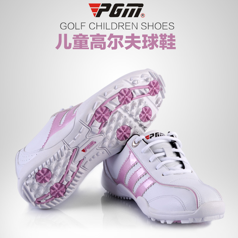 Quality Goods New Product PGM Childrens (men and women the same model) golf shoes Motion Children Support sneakers Real Genuine