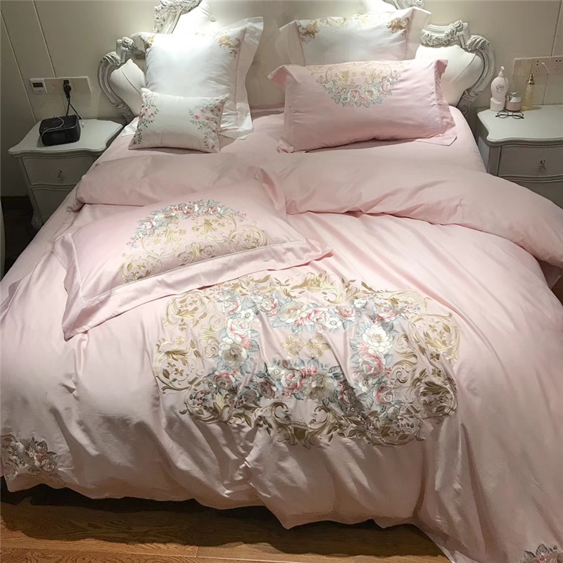 New Luxury 60S Egypt Cotton Palace Garden Bedding Set Embroidery Duvet cover Bed Sheet Pillowcases Queen King size 4/6/7PcsNew Luxury 60S Egypt Cotton Palace Garden Bedding Set Embroidery Duvet cover Bed Sheet Pillowcases Queen King size 4/6/7Pcs