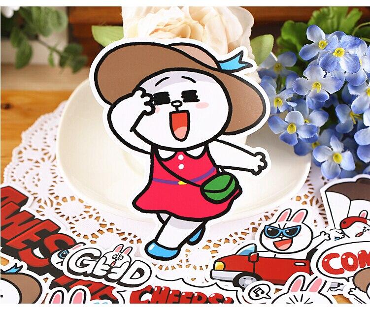 16pcs Creative Cute Self-made Cannie holidays stickers / trolley case / computer notebook stickers кейс для диджейского оборудования thon case for xdj rx notebook