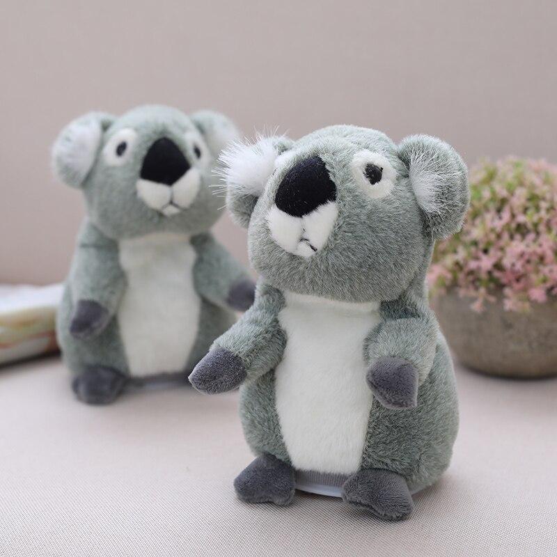 Parler Koala Pet peluche jouet répéter ce que vous dites jouet éducatif Hamster poupée pour enfants cadeau 18 cm