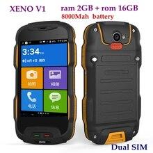 XENO V1 IP68 Waterproof Rugged Mobile Phone Quad Core 8000mah 2GB RAM 16GB GPS Dual SIM FDD 4G WIFI V9 BV6000 BV6000S V11 T9
