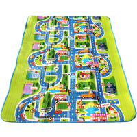 Baby Living Room Play Game Crawling Mat Baby Traffic Map Climb Cartoon Pad Outdoor Picnic Carpets For Children Play Rug