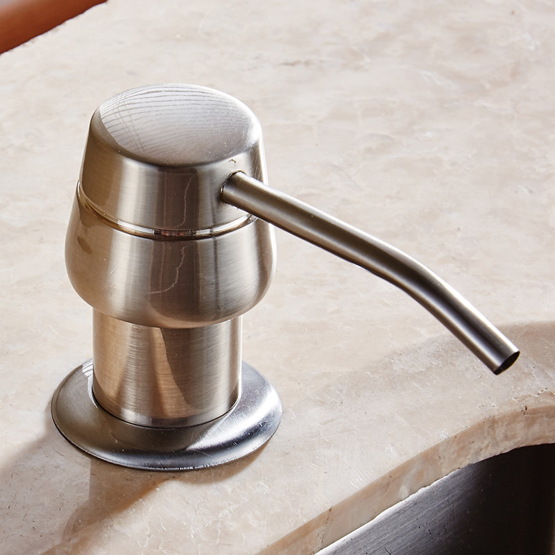 kitchen sink dispensers liquid soap dispensers 250ml brushed nickel stainless steel
