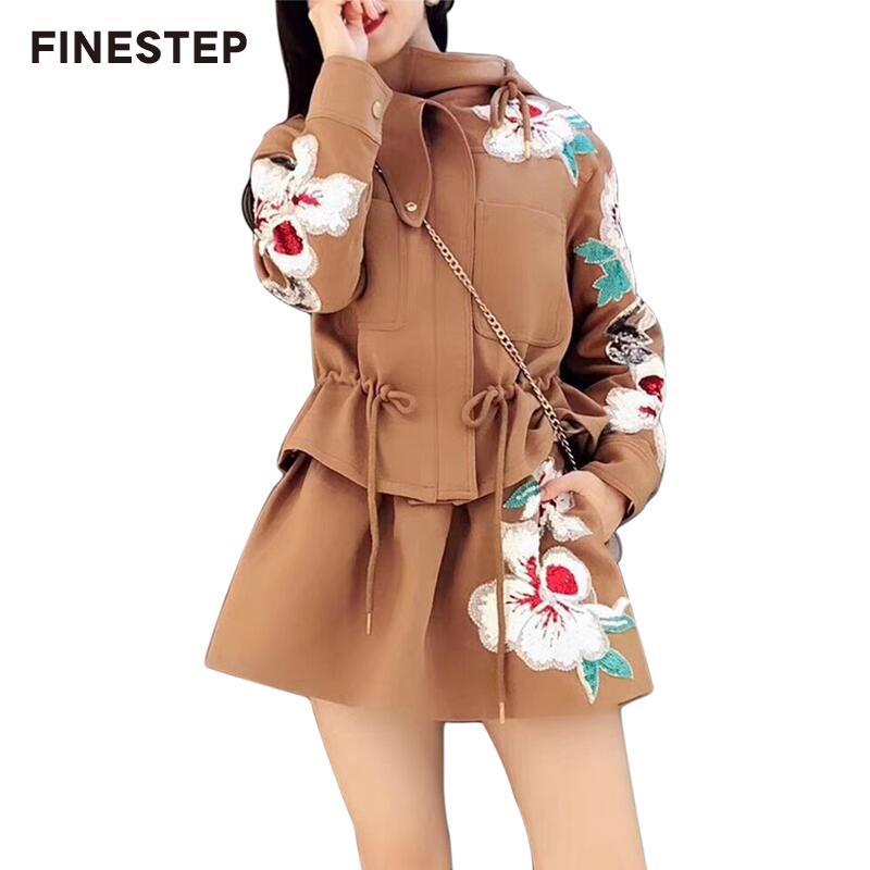 Зимний комплект из двух предметов юбка Длинные рукава пикантные из двух частей с коротким мини юбка комплект Повседневное с Для женщин осен