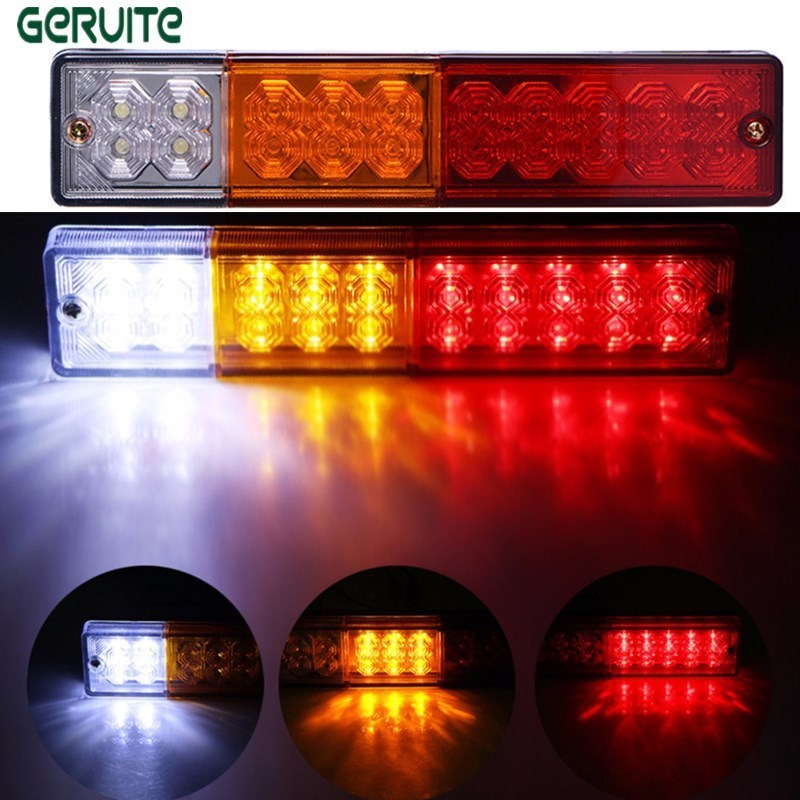 Atv,rv,boat & Other Vehicle Automobiles & Motorcycles Waterproof 20leds Atv Trailer Truck Led Tail Light Lamp Yacht Car Taillight Reversing Running Brake Turn Lights 12v
