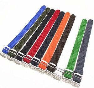 Новое поступление, 1 шт., 20 мм, 22 мм, нейлоновые ремешки perlon, плетеные ремешки, ремешок для часов, ремешок для часов, 12 видов цветов в наличии-PS002