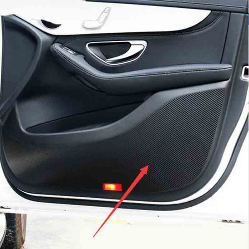 Door protective Stickers Carbon fiber stickers Car Accessories For Mercedes Benz GLC-Class GLC300 GLC250 GLC220D GLC250D X253 11pc x canbus no error led interior dome light lamp kit package for mercedes benz glc class x253 glc250 glc300 glc350 2015