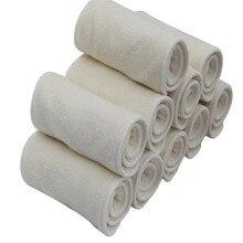 新しい10ピース/ロット4層おむつ赤ちゃん繊維洗える再利用可能なベビー布おむつおむつはマイクロファイバーおむつ幼児布