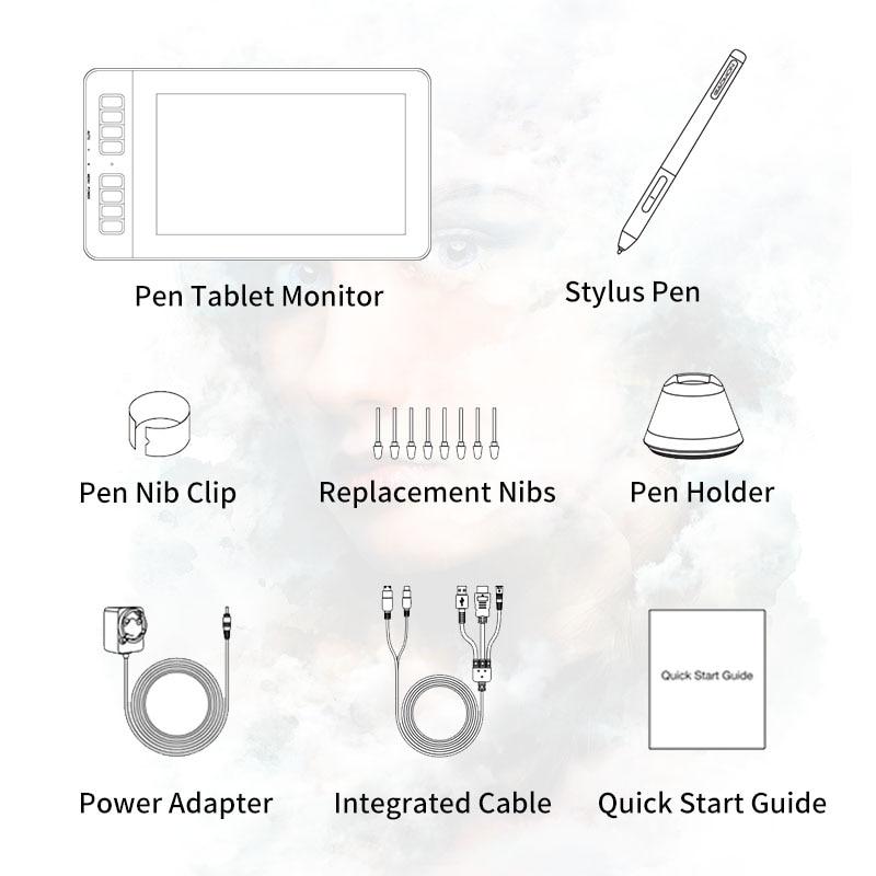 Image 5 - GAOMON PD1161 ips HD графический планшет монитор дисплей с 8192 уровнями ручка без батареи и регулируемая подставкаЦифровые планшеты    АлиЭкспресс