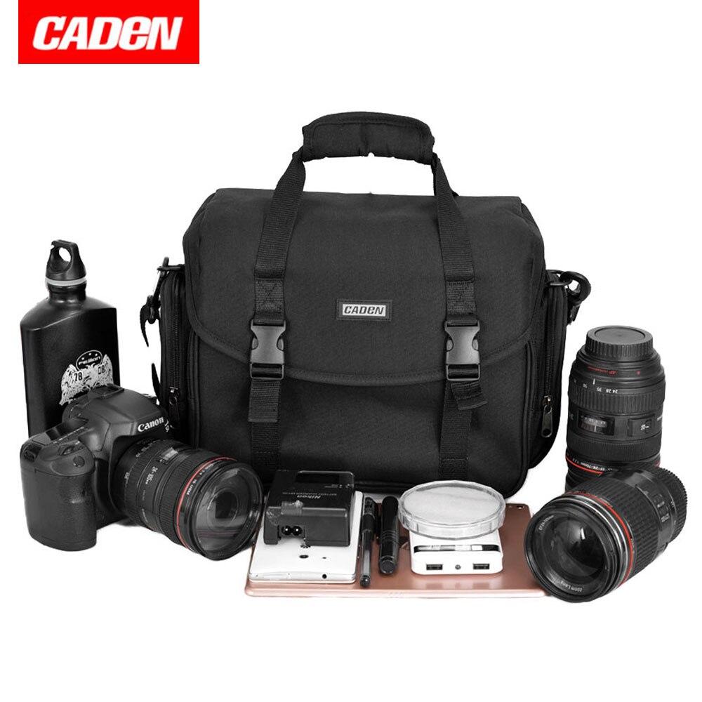 CADEN Câmera À Prova D' Água Bolsa de Ombro Bolsa de Multi-funcional Photo Bag Para Canon Nikon Sony DSLR Camera Case Digital Ao Ar Livre
