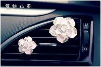 XXXG Carro perfume clipe Diamante Floral Pedrinhas Camellia água Coreano ar condicionado ar clip clip Ms.